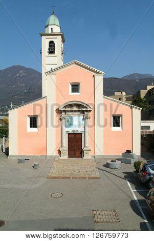 Church of Melide on the italian part of Switzerland