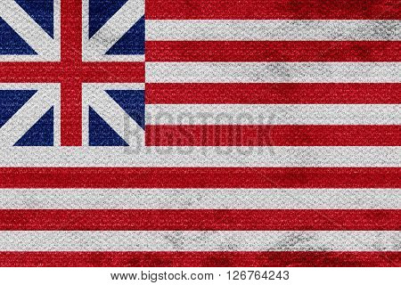 America flag with some soft highlights and folds
