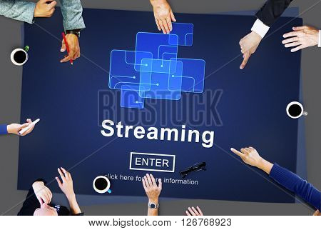 Streaming Internet Computer Media Transfer Data Concept