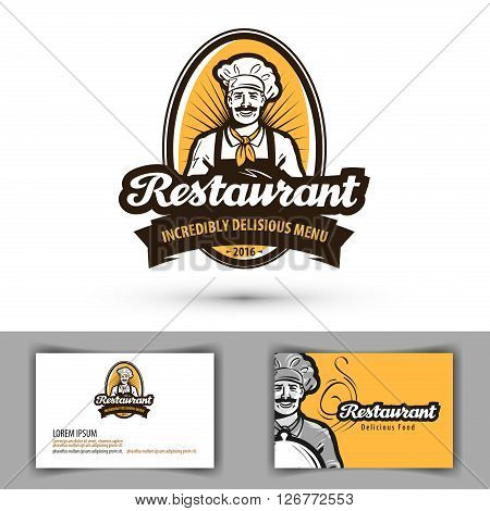 restaurant vector logo. cafe, diner or bistro icon