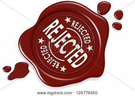 Rejected label seal isolated image with hi-res rendered artwork that could be used for any graphic design., 3D rendering