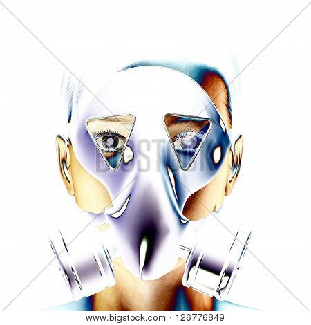 3D Illustration, 3D Rendering Of A Protection Mask