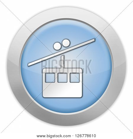 Icon Button Pictogram with Aerial Tramway symbol