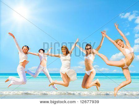 women in paradise