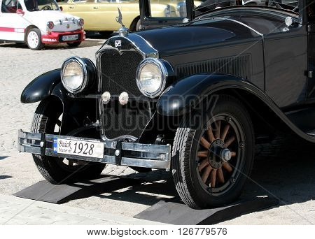 US car 1928 Buick exposed to retro parade in the town of Sliven, Bulgaria, April 16.2016