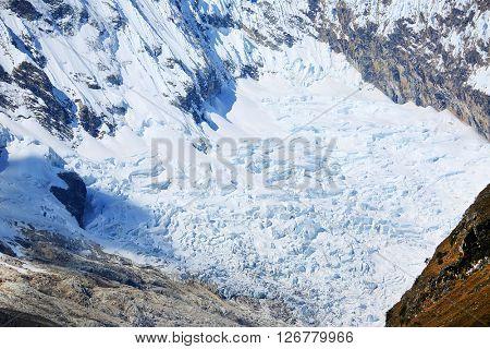 Alpine landscape in Cordilera Blanca, Peru, South America