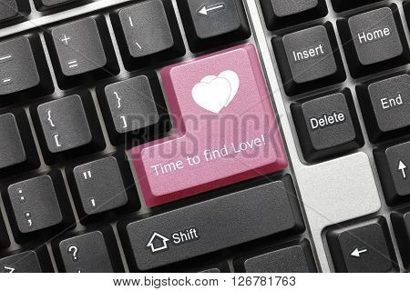 Conceptual Keyboard - Time To Find Love (pink Key)