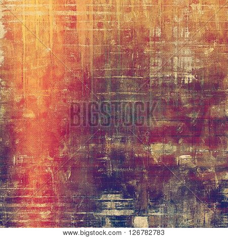 Old grungy stylish composition, vintage texture with different color patterns: yellow (beige); brown; red (orange); purple (violet); pink