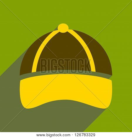 Flat icon with long shadow sports cap