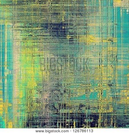 Grunge scratched background, abstract vintage style texture with different color patterns: yellow (beige); green; blue; gray; cyan