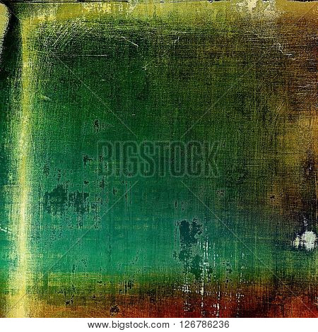 Abstract grunge weathered background of vintage texture. With different color patterns: yellow (beige); brown; green; blue; cyan