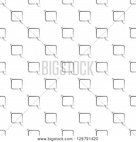 Speech bubble pattern seamless black for any design