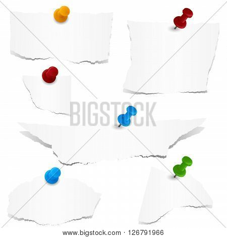 Scraps Of Papers With Pin