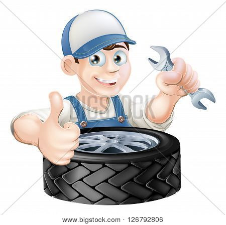 Auto Mechanic Giving Thumbs Up