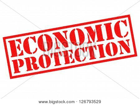ECONOMIC PROTECTION red Rubber Stamp over a white background.