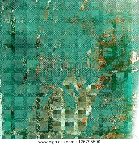 Scratched vintage texture, grunge style frame or background. With different color patterns: yellow (beige); brown; green; blue; gray; cyan