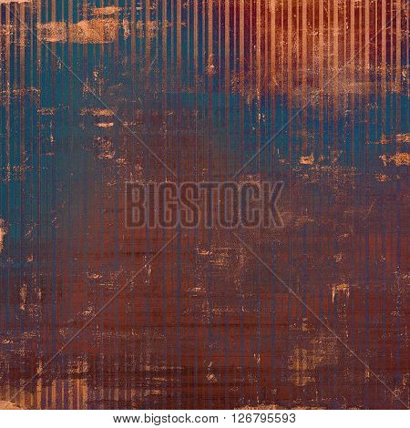 Highly detailed scratched texture, aged grungy background. Vintage style composition with different color patterns: yellow (beige); brown; blue; red (orange); purple (violet)