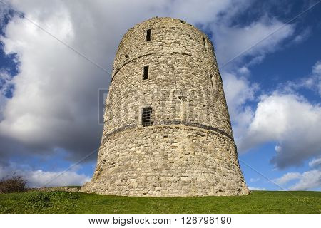 The remains of the historic Hadleigh Castle in Essex England