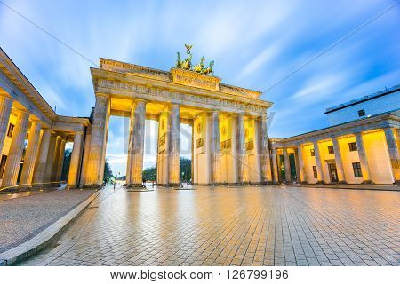 Brandenburger Tor (brandenburg Gate) In Berlin Germany At Night