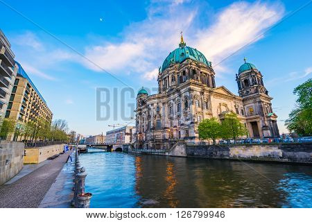 Nice Sky With Berlin Cathedral In Berlin, Germany