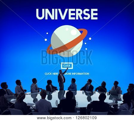 Universe Galaxy Earth Globe  Interstellar Science Concept