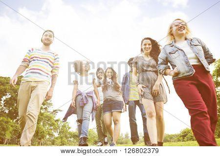 Students Friendship Together Diversity Concept