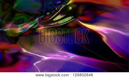 Abstract liquid light forms shine. High resolution illustration 10611.