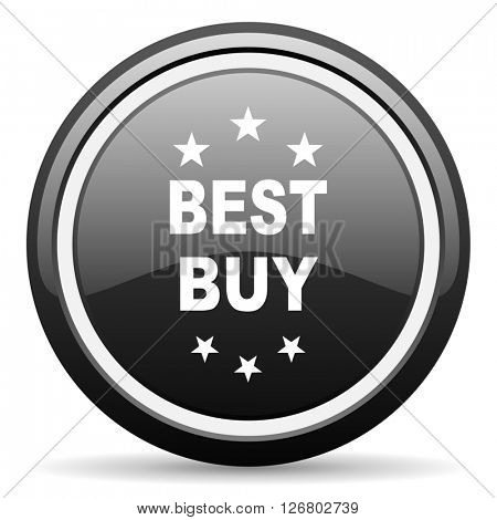 best buy black circle glossy web icon
