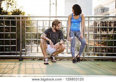 Exercise Jogging Running Couple Sport Summer Concept