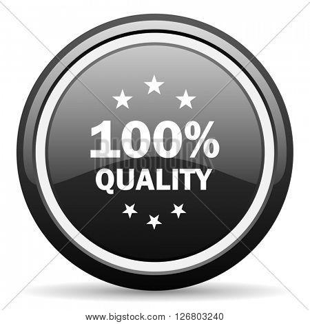 quality black circle glossy web icon