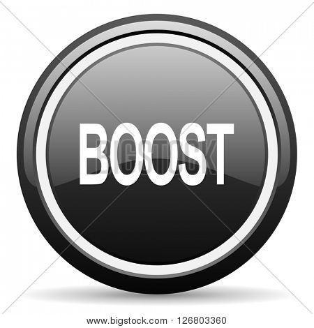 boost black circle glossy web icon