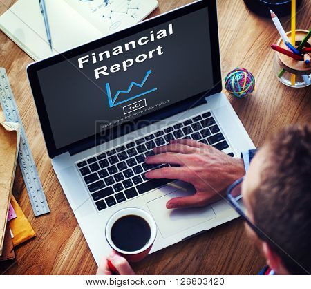 Financial Report Money Cash Growth Analysis Concept