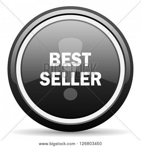 best seller black circle glossy web icon