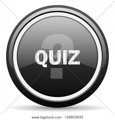 quiz black circle glossy web icon