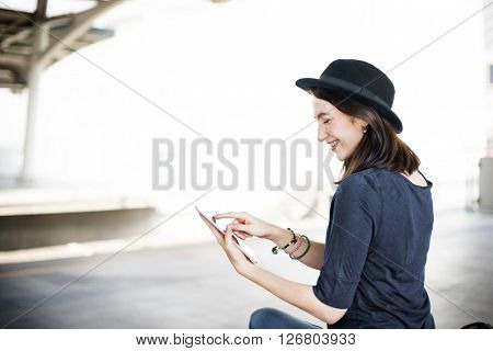 Young Woman Communication Cell Phone Concept