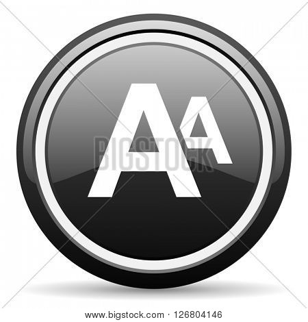 alphabet black circle glossy web icon