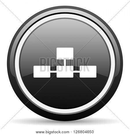 database black circle glossy web icon