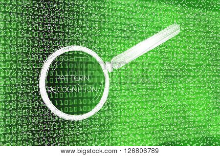 Messy Binary Code Analyze By Magnifying Glass, Pattern Recognition
