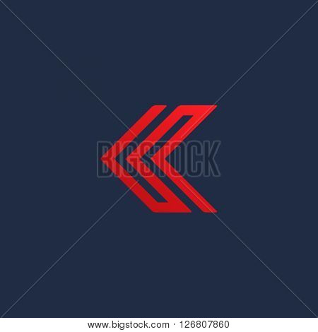 Letter C arrow logo icon design template elements