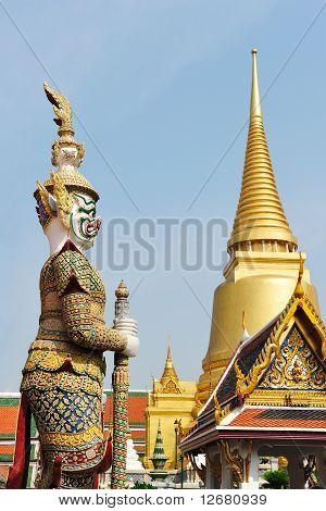 Giant Statue In Wat Phra Kaew