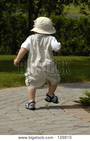 Baby Boy Walking