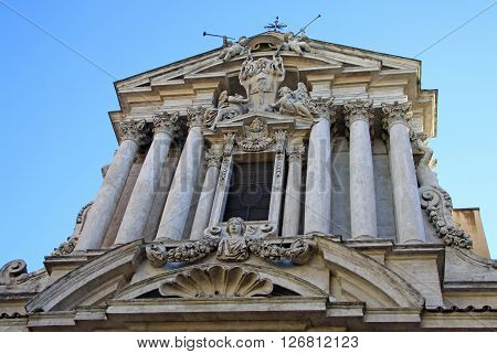 Rome, Italy - December 20, 2012: Church Of Saint Vincent And Anastasius In Trevi (santi Vincenzo E A
