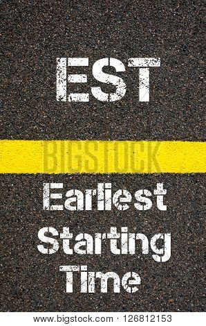 Business Acronym Est Earliest Starting Time