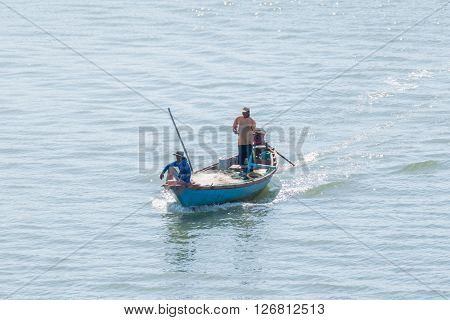 Chanthaburi Thailand - December 31 2015 : Unidentified fishing boat is out fishing. Fishermen is a career that has been popular in the seaside city of Thailand.