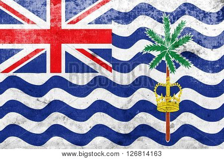 Flag Of British Indian Ocean Territory, With A Vintage And Old L