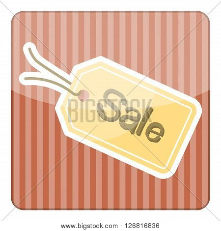 Sale tag simple colorful icon. Vector illustration