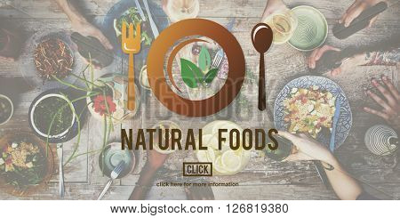Natural Foods Eat Well Good Conservation Diner Concept