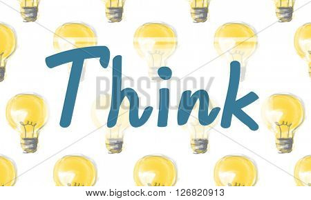 Think Thinking Visionary Attitude Inspiration Concept