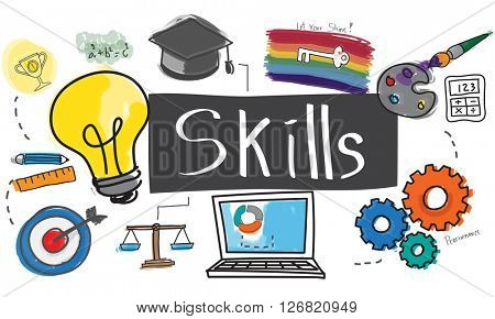 Skills Cleverness Intelligence Occupation Talent Concept