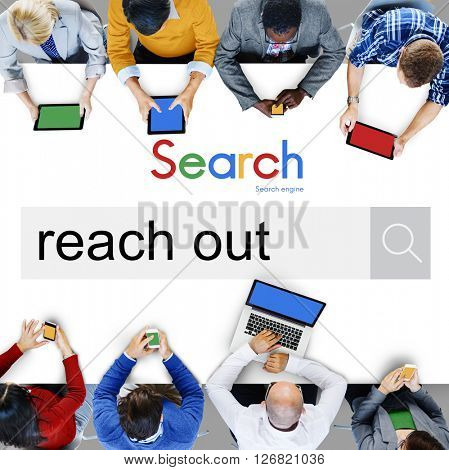 Reach Out Correspond Contact Connect Care Help Concept